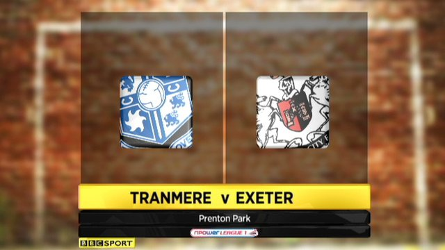 Tranmere 2-0 Exeter