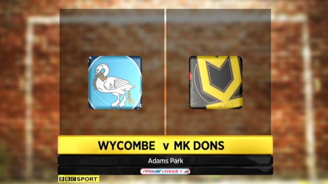 Wycombe 1-1 MK Dons