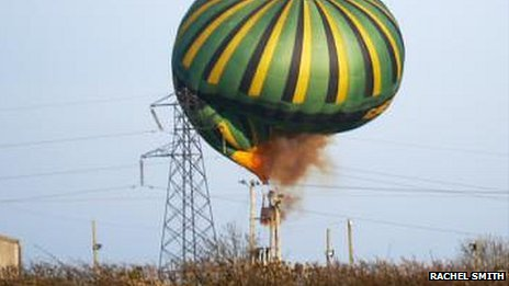 Hot-air balloon crashes into power lines near Wellingborough
