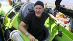 James Cameron emerging from the Deepsea Challenger after his dive