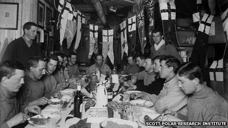 Captain Scott's birthday dinner, June 1911