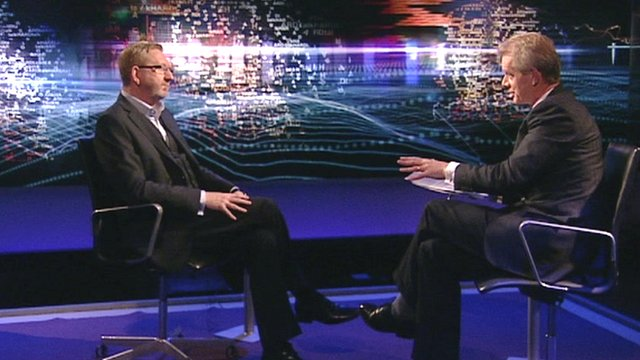 Len McCluskey with Stephen Sackur