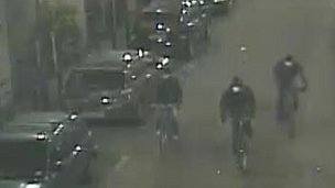CCTV footage of the three men