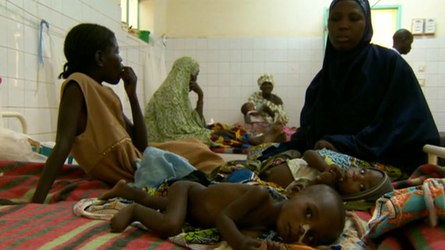 Children in a Niger hospital