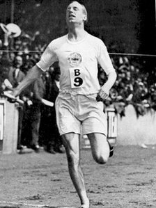 Eric Liddell of Great Britain in action in 1924
