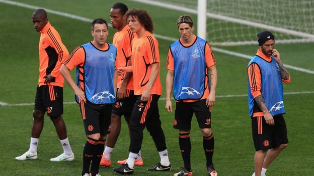 Chelsea prepare to face Benfica