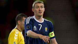 Darren Fletcher captaining Scotland