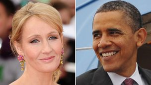 JK Rowling and Barack Obama