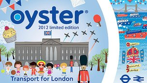 Commemorative Oyster card for London Olympics