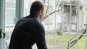Marko, an Estonian fentanyl addict, at a treatment centre in Tallinn