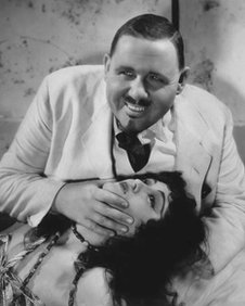 Charles Laughton with Kathleen Burke in Island of Lost Souls