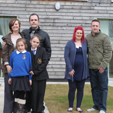 Nyree and Anthony Jones and their two daughters Shannon-Lee and Demi, and Chloe Thomas and her partner Stuart-Carl Barnes