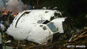 Hewa Bora plane crash in July 2011