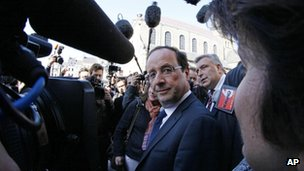 Francois Hollande in Boulogne, 27 March