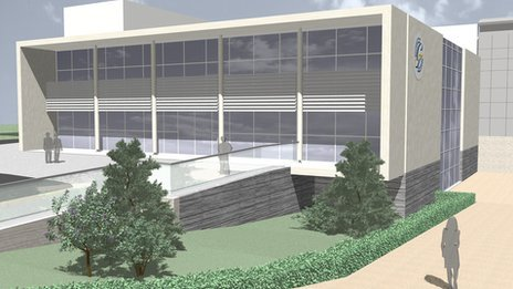 Projected view of upgraded University of Glamorgan campus in Treforest