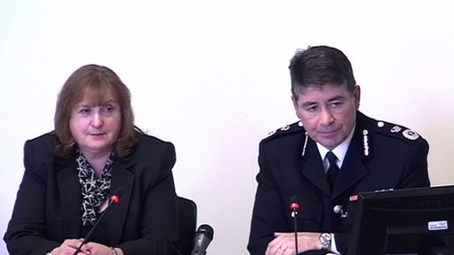 Barbara Brewis and Chief Constable Jonathan Stoddart, from Durham Constabulary