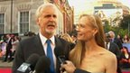 Director James Cameron with wife Suzy Amis at the 3D Premier of Titanic