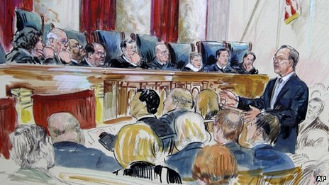 The Supreme Court, in an artists rendering