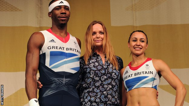 Phillips Idowu, Stella McCartney and Jess Ennis