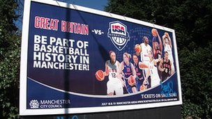 Basketball bilboard in Manchester