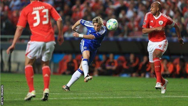 Fernando Torres lets fly against Benfica