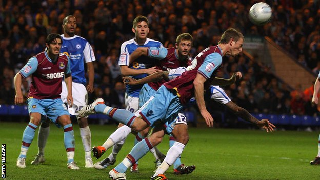 West Ham's Danny Collins in action against Peterborough