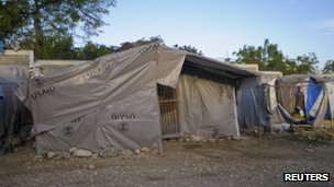 Earthquake survivor's tent in Port-au-Prince, March 2012