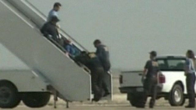 "Pilot who suffered a ""medical situation"" being removed from plane."