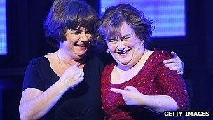 Elaine C Smith and Susan Boyle