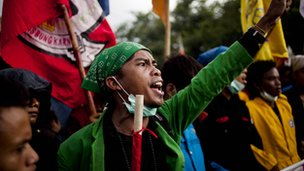 Indonesian students protest against planned fuel price hikes