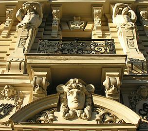 Art Nouveau facade in Riga