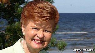 Former president Vaira Vike-Freiberga