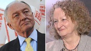 Ken Livingstone and Jenny Jones