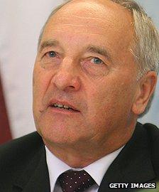 Latvian President Andris Berzins