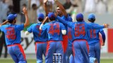 Afghanistan cricket team celebrating