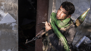 Free Syrian Army soldier in Idlib earlier this month