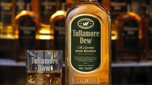 A bottle of Tullamore Dew