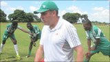 Northern Irish coach Sean Connor at work with Zimbabwe side CAPS United