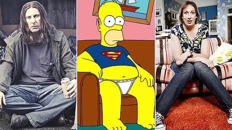 Frank Gallagher, Homer Simpson and Miranda Hart