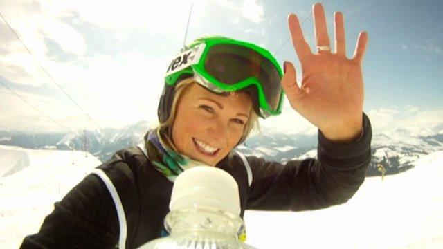 British ski-cross Champion Pam Thorburn