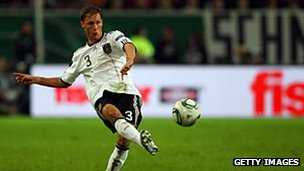 German defender Benedikt Hoewedes in a Euro 2012 qualifier