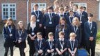 Holmer Green Senior School students stand together for a group photo
