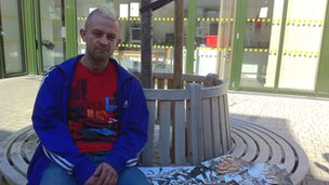 Dave, client of the Single Homeless Project