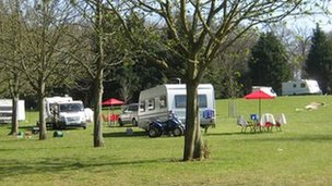 Caravans at Symonds Road, Bury St Edmunds