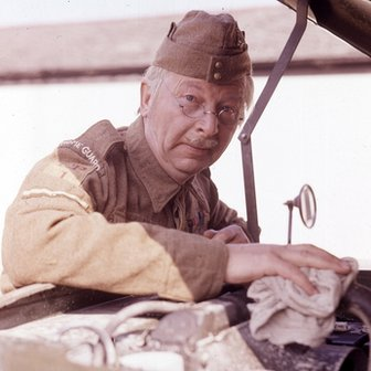 Clive Dunn as Corporal Jones in BBC's Dad's Army