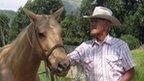 Sonny Keakealani Jr with horse