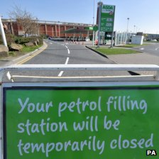 The petrol station at Asda in Trafford Park, Manchester, had to close after running out of fuel