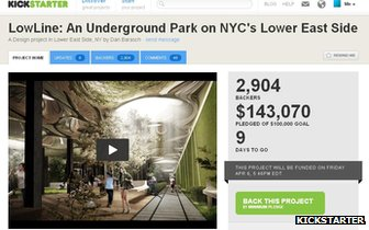 Lowline's Kickstarter page