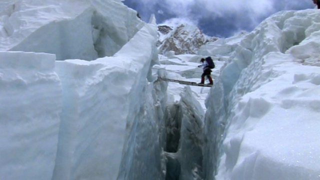 Climber on Mount Everest