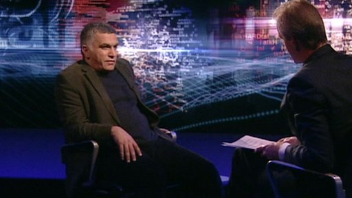 Nabeel Rajab and Stephen Sackur